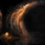 Gas 'Waterfalls' Reveal Infant Planets around Young Star