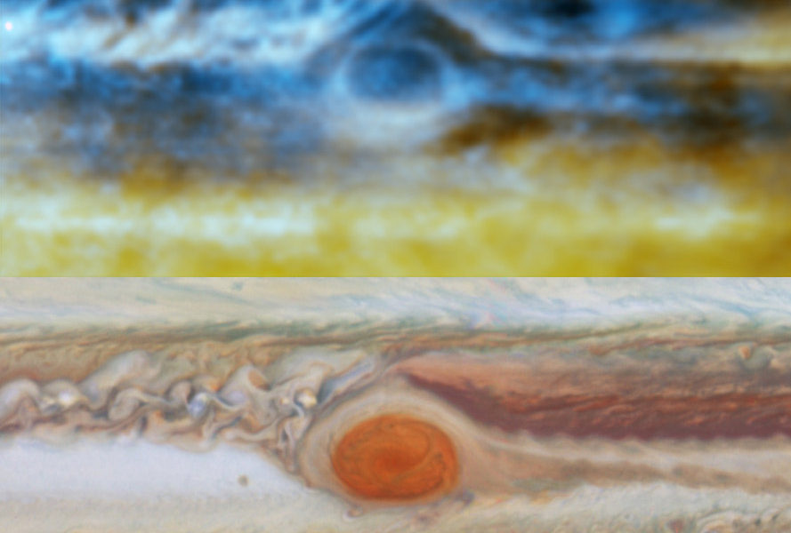 Radio and Optical images of the Great Red Spot