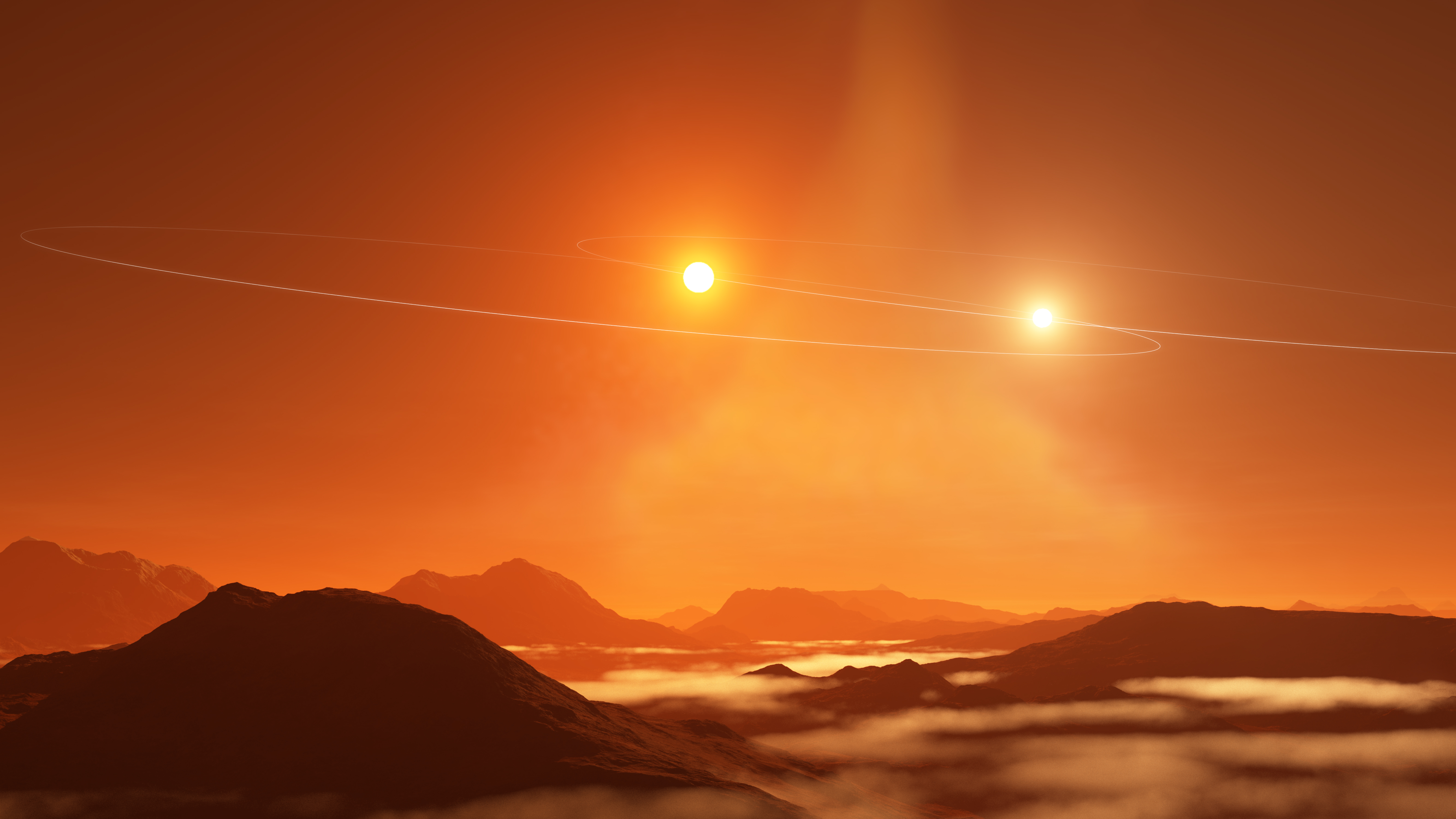 Double Sunset on a 'Tatooine' Exoplanet