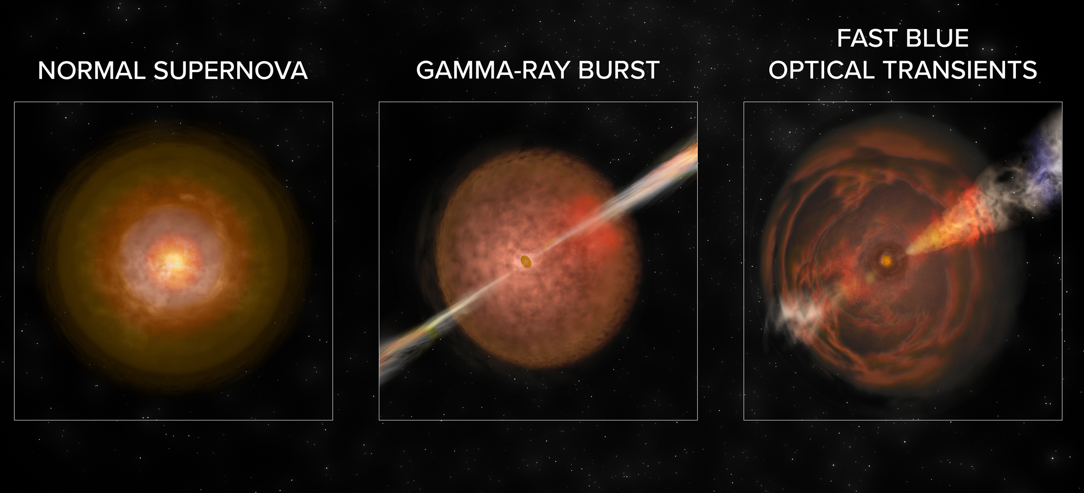 FBOTs, Gamma-Ray Bursts, and Supernovae