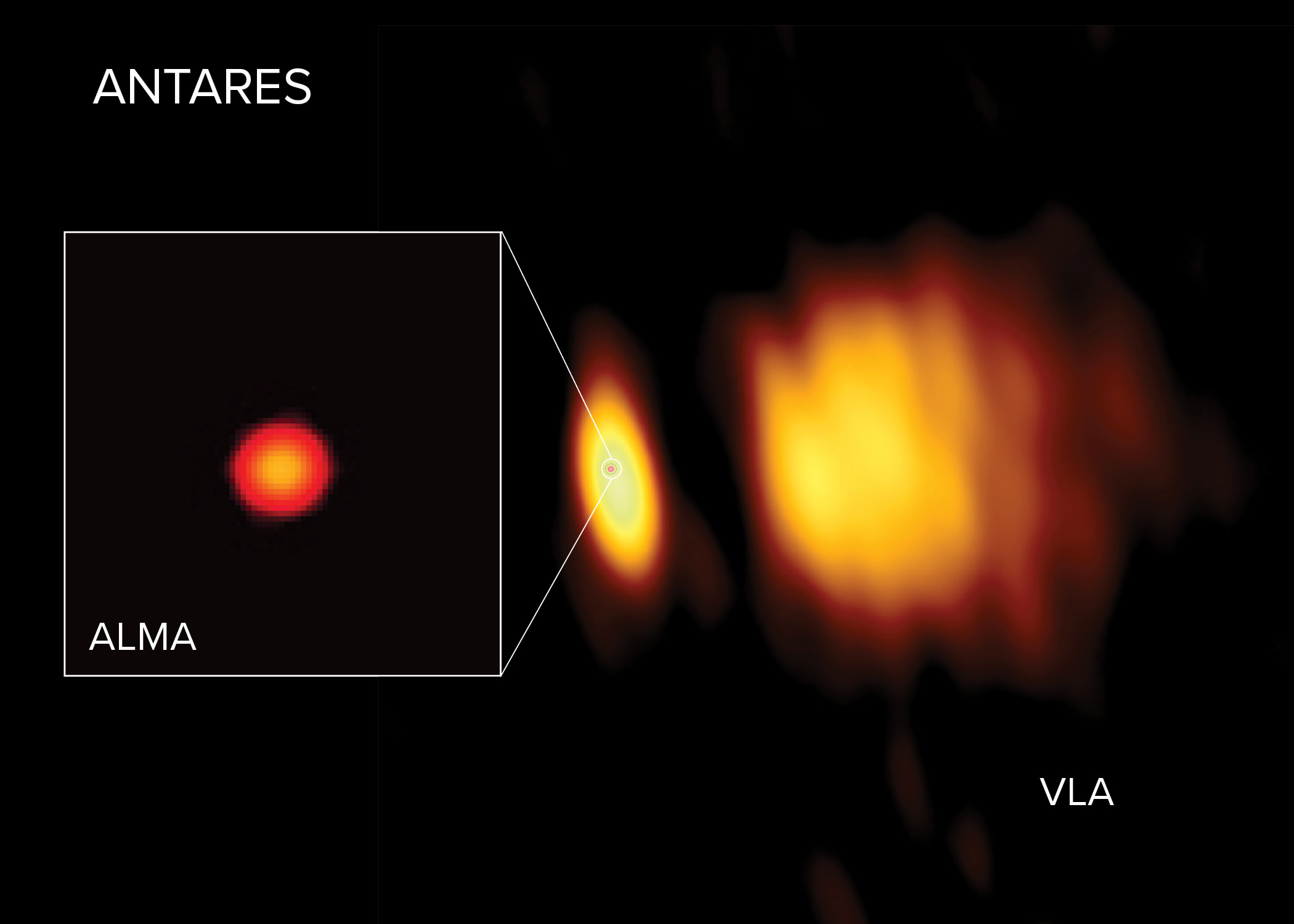 Radio images of Antares