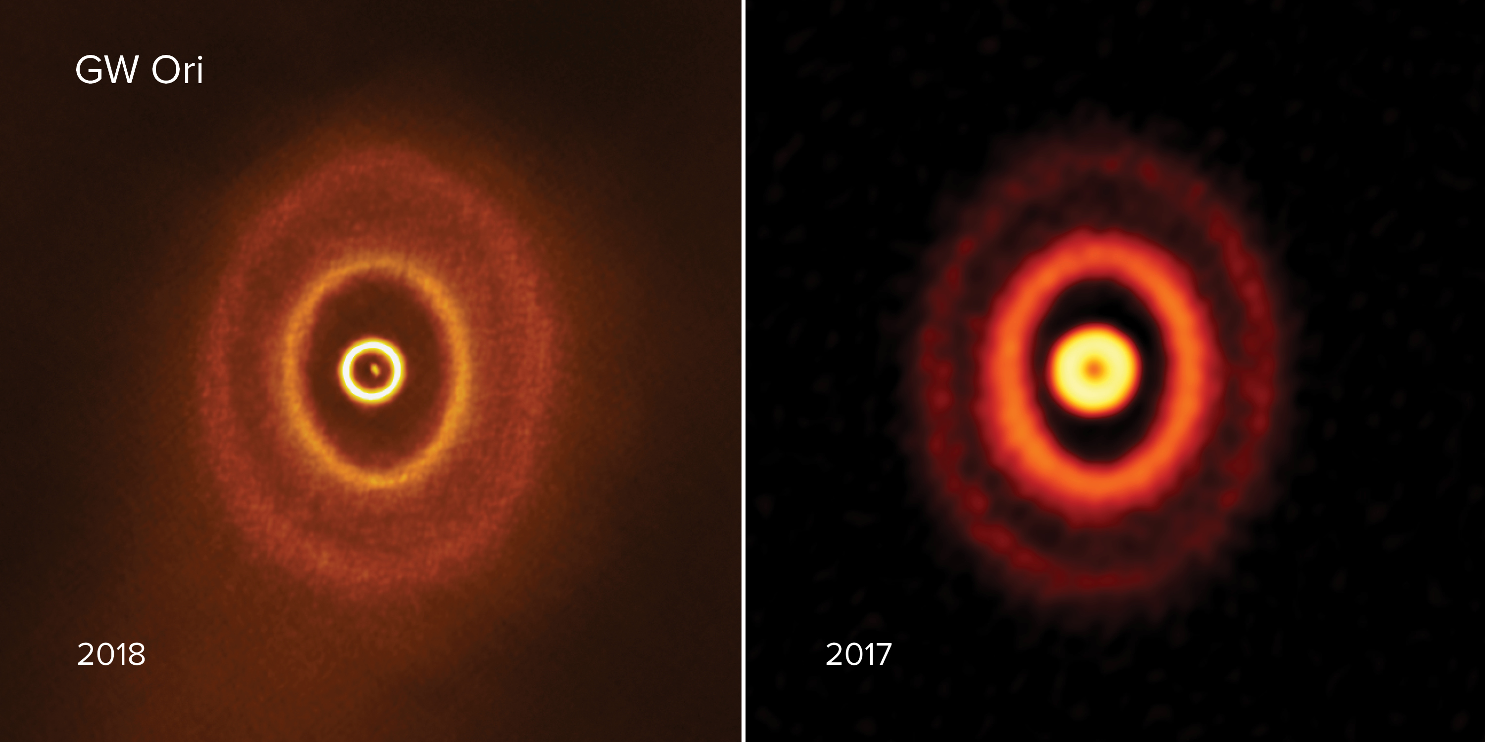 ALMA images of triple star system GW Orionis