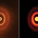 ALMA Discovers Misaligned Rings in Planet-Forming Disk Around Triple Stars